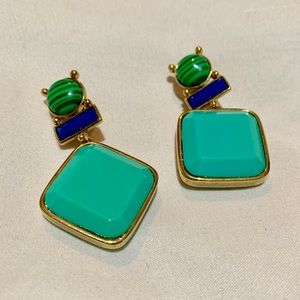 TORY BURCH Audrey Stone Drop Clip Earrings